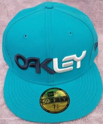 d31bebe20d7 NEW OAKLEY New Era 59 FIFTY Blue Turquoise Baseball Hat Cap Embroidered 7 3  8