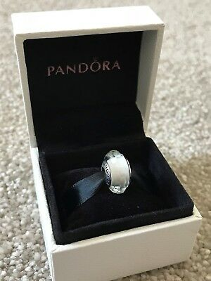 White Faceted - Genuine PANDORA Charm