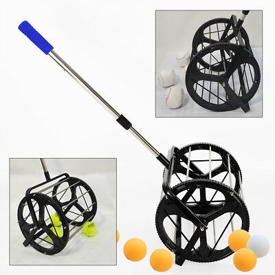 Tennis Ball Picker Hopper Retriever Mower Collector Pick Up 55 BALLS