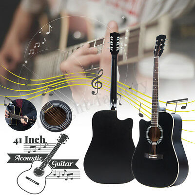 2019 New 41'' Inch Wooden Acoustic Guitar Classical Folk Full Size With Bag