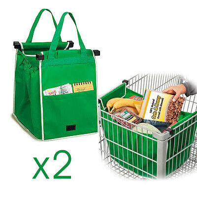 Batch Of 2 Bag Shopping Commissions Grap Special Trolley With Pocket New