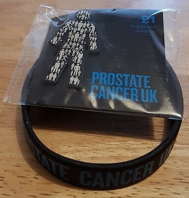 New Prostate Cancer UK (MEN UNITED) Pin Badge & Wristband Set(SAME DAY DELIVERY)