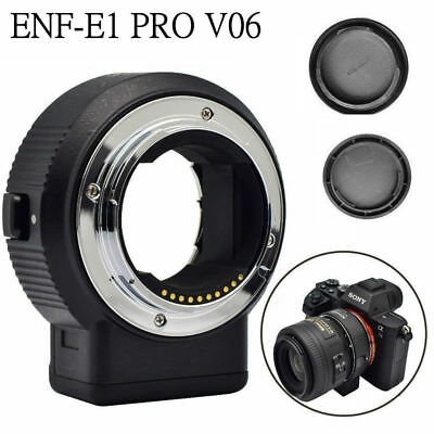 Commlite CM-ENF-E1 PRO V6 AF Lens Mount Adapter for Nikon F Lens to Sony E-mount