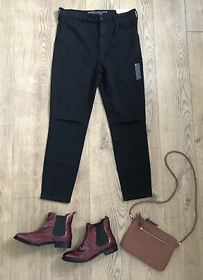 8f7cfaf76f7 American Eagle Jeans Size 20 Black Super Stretch High Rise Jegging Ripped  Knees