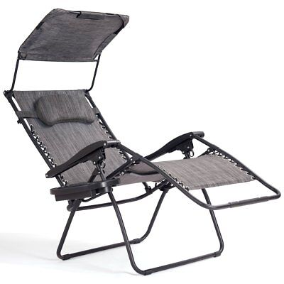 New Folding Zero Gravity Lounge Chair Wide Recliner for Outdoor Beach Patio Pool