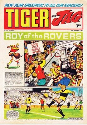 Tiger Bumper Digital Collection Of 1400+ Uk Comics On Dvd Roy Of The Rovers