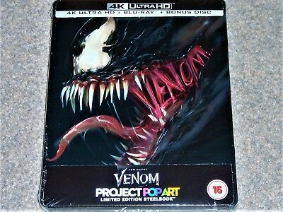Venom 4K Ultra HD Steelbook (Includes 2D Blu Ray) WORLDWIDE SHIPPING
