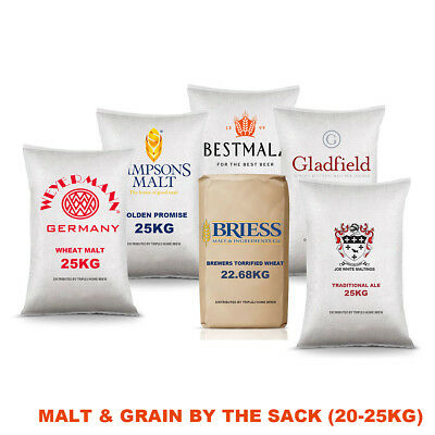 Malt & Grain Per 25KG All Grain Home Brew Beer Brewing