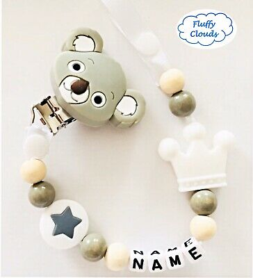 Silicon Bead Baby Pacifier Soother Dummy Clip+Teether Set~BPA Free~Boys