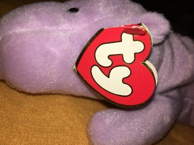 7b9491219be Ty Beanie Baby Happy the Hippo 3rd Generation Hang Tag Lavender Nice  Condition