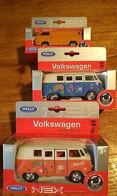 Welly VW Volkswagen Bus Bully T1 T3 SET Modellautos OVP