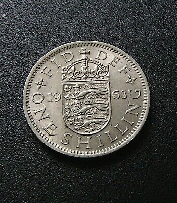 1964 About Uncirculated English UK One Shilling Coin - Elizabeth II - 816