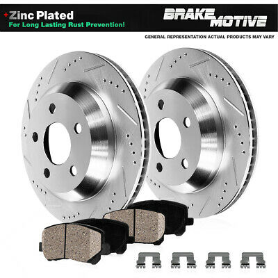 For Mitsubishi Dodge 3000GT Stealth Front  Blank Brake Rotors+Ceramic Pads