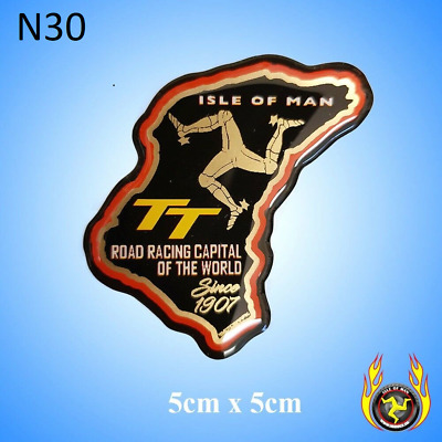 Isle of Man TT Course Map Black Gel Badge Sticker