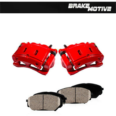 Front Red Powder Coated Brake Caliper Pair For 2012-2016 Nissan Versa