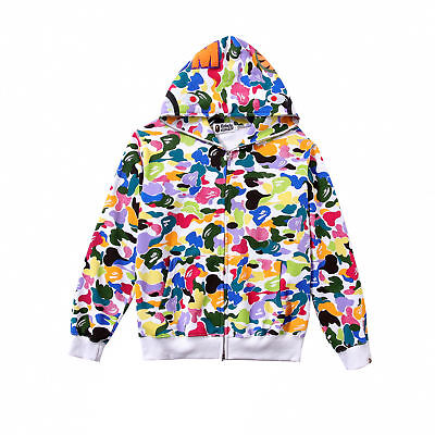 Men's A Bathing Ape Bape Colorful Candy Camo Sweater Coat Casual Hooded Jacket