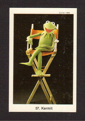 The Muppet Show Jim Henson Vintage 1978 Card from Sweden #57 Kermit The Frog