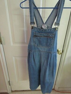 Zero to Nine Maternity Women Denim Jeans Overalls Shorts - Medium
