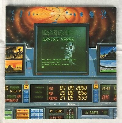 """Iron Maiden - Wasted Years 7"""" Single"""