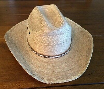874d0da60a54f ATWOOD FLEXIBLE STRAW COWBOY HAT Marfa CATTLE MAN 6 7 8 Long Oval ...