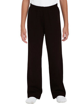 Kids Brown Jog Pants Boys Girls Plain Jogging Bottoms Trousers Ages 2 - 15