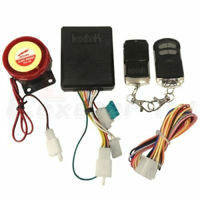 Motorcycle Scooter Moped Quad Alarm with Immobiliser + 2x Keyfobs + Remote Start