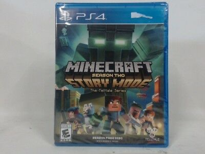 MINECRAFT: STORY MODE SEASON TWO Playstation 4 PS4 w/ Original Box Acceptable