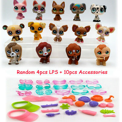 #1623 #2207 Littlest Pet Shop New Kid Toy Dog Wolf LPS Accessories Random 4pcs