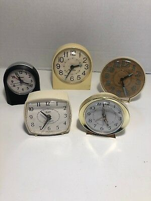 Vintage Lot Of Westclox Alarm Clocks Clock Baby Ben Sharp Included Usa Nap