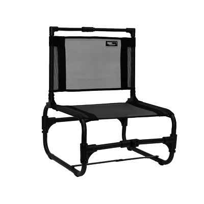 The Larry Chair - Small Collapsible Beach, Camp & Concert Chair - Black, New