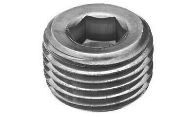"""Parker 1/4 HHP-S Hollow Hex Head Pipe Plug 1/4"""" NPTF Male Steel *Pack of 5*"""