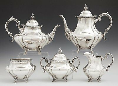 Antique Sterling Silver Reed & Barton Coffee Tea Service