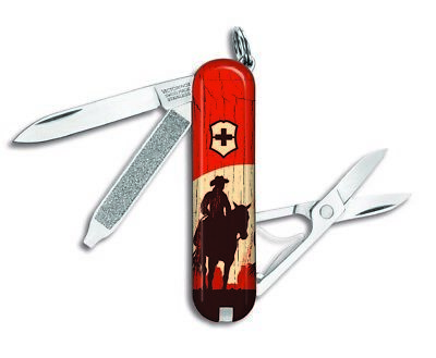 Victorinox Swiss Army Classic SD Pocket Knife, Cowboy on Horseback