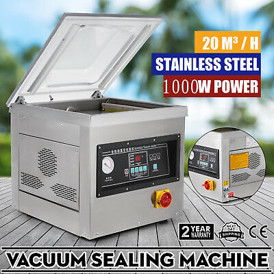 1000W Vacuum Packing Sealing Sealer Machine Single Chamber Kit Strong Storage