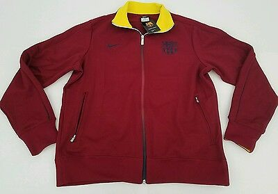 d2445df10 FC Barcelona Soccer Warm Up Jacket Nike Red Futbol FCB Barca Spain Sz XXL  NWT