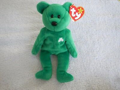 c70ee83daee TY BEANIE BABY Erin Green St. Patrick s Day Teddy Bear 1997 Stocking ...