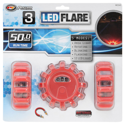 Performance Tool W2343 3 Piece LED Road Flare