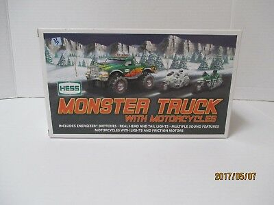 2007 Hess Monster Truck With Motorcycles Collectible - Orig Box NIB