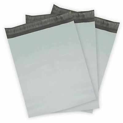 50 10x13 Poly Mailers Plastic White/Gray Shipping Mailing Envelopes Bag 2.5 mil