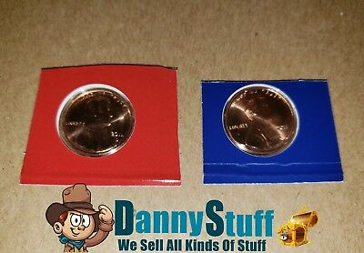 2011 P D Lincoln Shield Cent BU US Mint Cello 2 Coin Penny Set Free Shipping USA