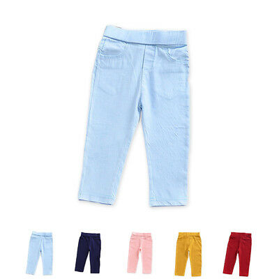 For Age 2-6 Kids Toddler Boy Girl Child High waist Cotton Pants Trouser Leggings