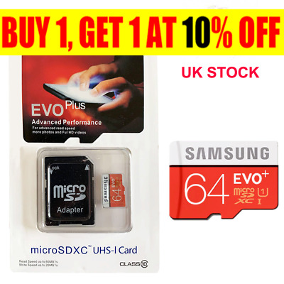 Samsung Memory 64GB EVO Plus Micro SD card with Adapter RD