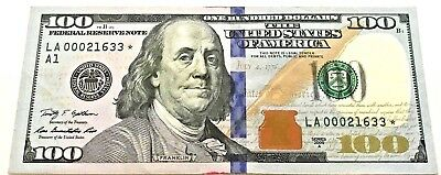 Star Note Low Serial Number One Hundred Dollar Bill -2009 $100 - La00060648*a