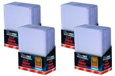 "100 Ultra Pro Regular Clear 3"" x 4"" Toploaders card storage protection (4 Packs)"