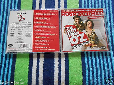 The Boy From Oz *hugh Jackman * Original 2003 Soundtrack Cd Like New