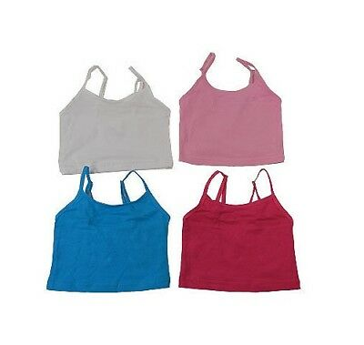 Baby Girl's 2 Pk Tank/Singlet Tops, Hot Pink & Blue or Pale Pink & White, Size 2