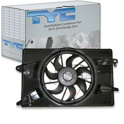 TYC Dual Radiator and Condenser Fan Assembly for 2007-2012 Chevrolet Malibu qf