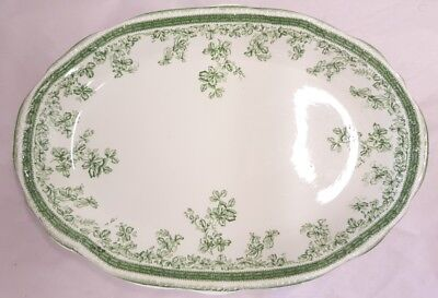 Antique New Wharf Pottery Eastwood Pattern Serving Platter c1891-94 Made England