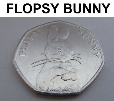 Flopsy Bunny 2018 50p Coin - Beatrix Potter Series UNCIRCULATED From Sealed Bag