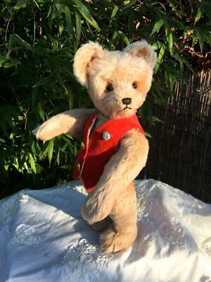 ANTIQUE / VINTAGE Schuco Yes No Bear 1950s 17 inches fully working mechanism